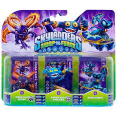 Triple pack de la magie qui contient Spyro série 3, Pop Fizz série 2 et Star Strike non light core exclusivité Carrefour.