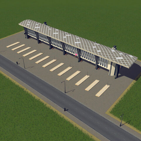 In-game bus station