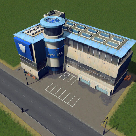 In-game police headquarters