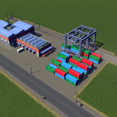 In-game cargo train terminal