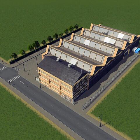 In-game tram depot
