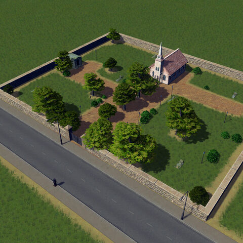 In-game cemetery