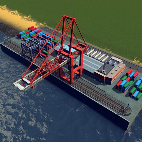 In-game cargo hub