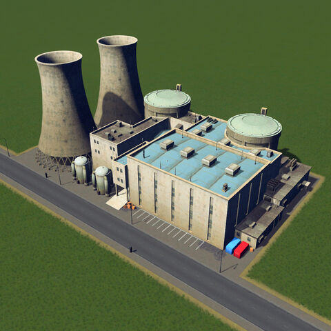 In-game nuclear power plant