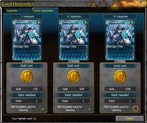 Card Upgrades Window Claim Upgrades