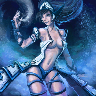 Frost Sorceress Card Artwork