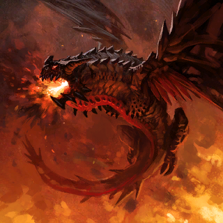 Fire Dragon Card Artwork