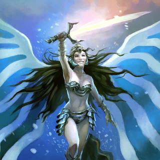 Skyelf Templar Card Artwork