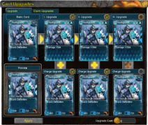 Card Upgrades Window Upgrade