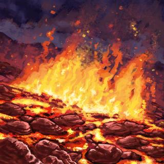Lava Field Card Artwork
