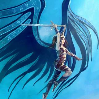 Skyelf Commander Card Artwork