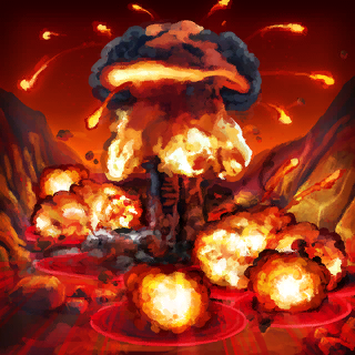 Cluster Explosion Card Artwork