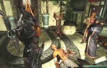 Fün in daedric armor