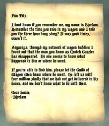 Letter from bjorlam 2