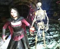 Vampire zombie skeleton