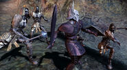Knight fighting Draugr