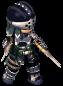 Black-Clad Soldier (Swords) FC Battle Stance