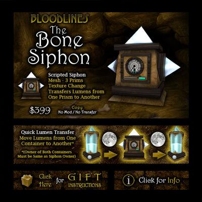 Product bonesiphon