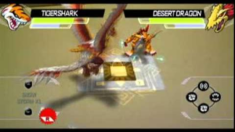 Tigershark versus desert dragon