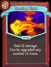 W searing-blow