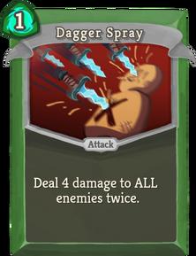 R dagger-spray