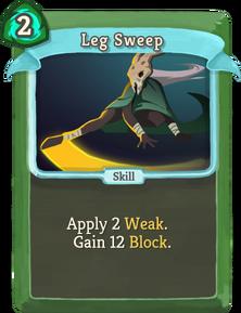 R leg-sweep