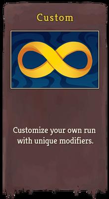 Custom mode