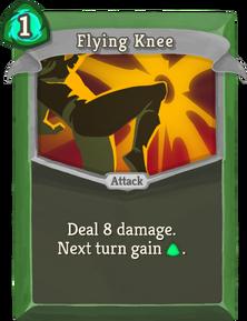 R flying-knee