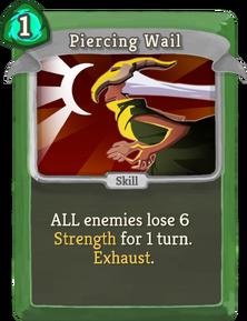 R piercing-wail