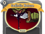 Sadistic Nature
