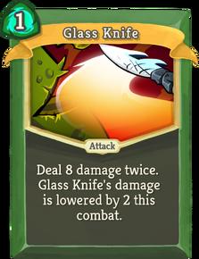 R glass-knife