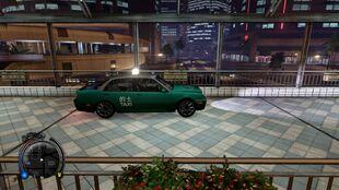 A green taxi