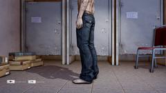 HangSui Baggy Jeans Black Left