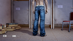 HangSui Baggy Jeans Blue Back