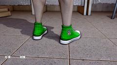 JJiggler Canvas Sneakers Green Back