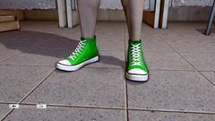 JJiggler Canvas Sneakers Green Front