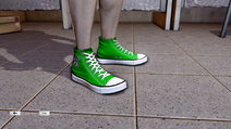 JJiggler Canvas Sneakers Green Right