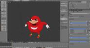 The knuckles meme as a 3d model by tidiestflyer-dbnk2ef