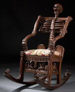 Antique Skeleton Rocking Chair
