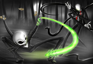 Jack skellington vs slenderman by starlover4ever-d7sue9z