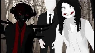 MMD Everybody- Creepypasta Zalgo, Slenderman, and Jeff the Killer
