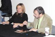 John Rhys-Davies under autografsession