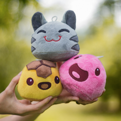 Image showing the real size of plushies.