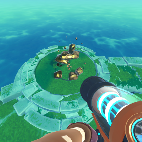 In-game render of the Small Magneticore Array.