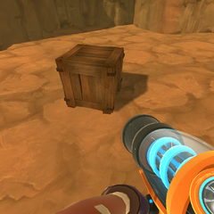 A crate on the ground.
