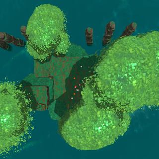 Aerial view of the prototype Ancient Ruins in 0.4.3.