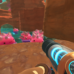 Some slimes taking a bath. How relaxing!