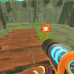The danger sign that indicates feral slimes will spawn
