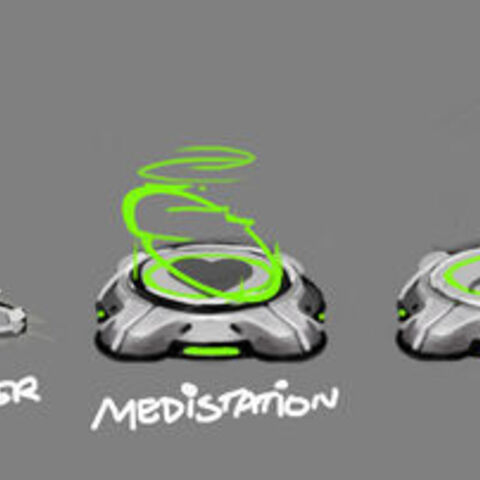 Concept art for a bunch of Gadgets including Beatrix.