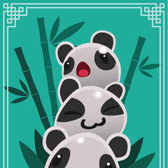 Panda Slimes by Cutycuty